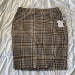 plaid skirt Fitted